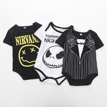 Summer Fashion Baby Boys Halloween One-piece Bodysuit Mommy's Little Nightmare P