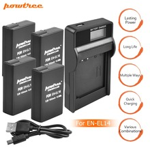 4Packs EN-EL14 EN-EL14a ENEL14 EL14 Battery + LCD Charger for Nikon P7800,P7100,D3400,D5500,D5300,D5200,D3200,D3300,D5100,D3 L10