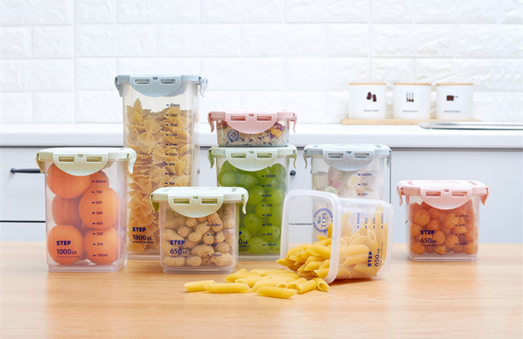Half Flip Kitchen Container Set and Airtight Food Storage Box Storage for Preservation of Cereals 10