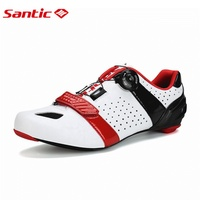 Santic Men S Cycling Road Shoes Carbon Bottom Light Breathable Annular Alignment Cycling Outdoor Sports Shoes