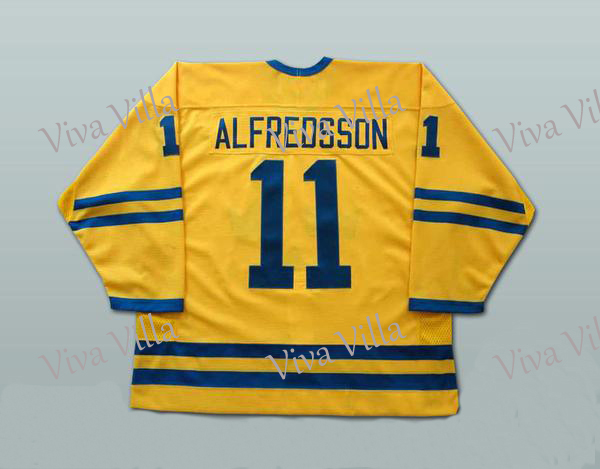 11 Daniel Alfredsso Team Sweden 30 Henrik Lundqvist 65 Erik Karlsson Yellow Ice Hockey Jersey Stitched Men Hockey Jersey S-6XL 2015 61 men s hockey jersey