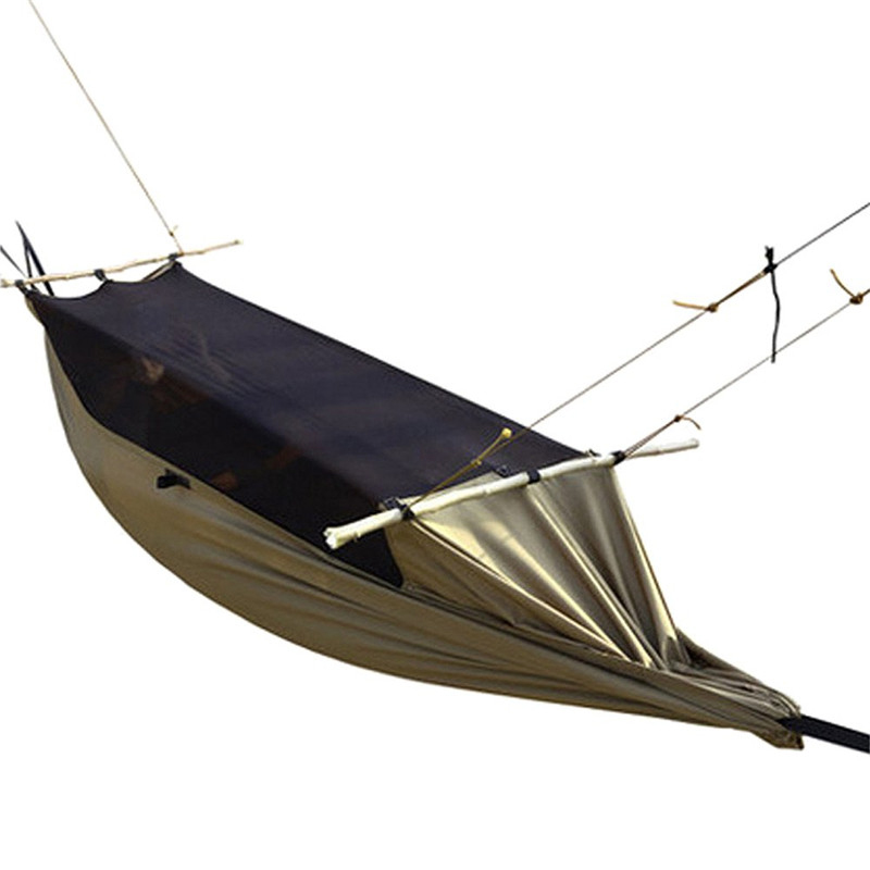 Outdoor Camping Hiking Hunting Military Army Tree Hammock Tent Hanging Bed Hammock Tent with Mosquito Net Tree Blind outdoor camping hiking survival water filtration purifier drinking pip straw army green