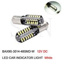 100 шт. автомобиля CANBUS Светодиодные лампы BA9S T4W BAX9S H6W теплые/белый Подсветка салона водить авто DRL распродажа Чтение свет лампа