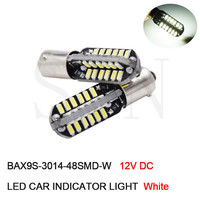 100Pcs Car Canbus LED Bulbs BA9S T4W BAX9S H6W Warm / White Interior Lights Led Auto DRL Clearance Reading Light Lamp
