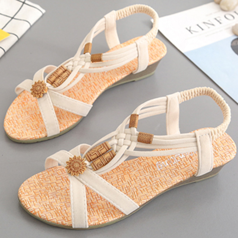 Shoes Woman Sandals Women 2018 Summer String Bead Peep Toe Shoes Roman Wedges Shoes For Women Gladiator Sandalias Mujer 2018 agutzm 2018 new gladiator women shoes roman sandals shoes women sandals peep toe flat shoes woman sandalias mujer sandalias
