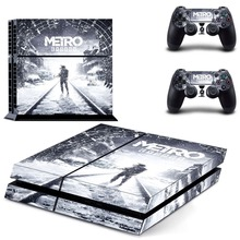Game Metro Exodus PS4 Skin Sticker Decal For Sony PlayStation 4 Console and 2 Controllers PS4 Skin Sticker Vinyl metro exodus ps4 skin sticker decal vinyl for sony playstation 4 console and 2 controllers ps4 skin sticker