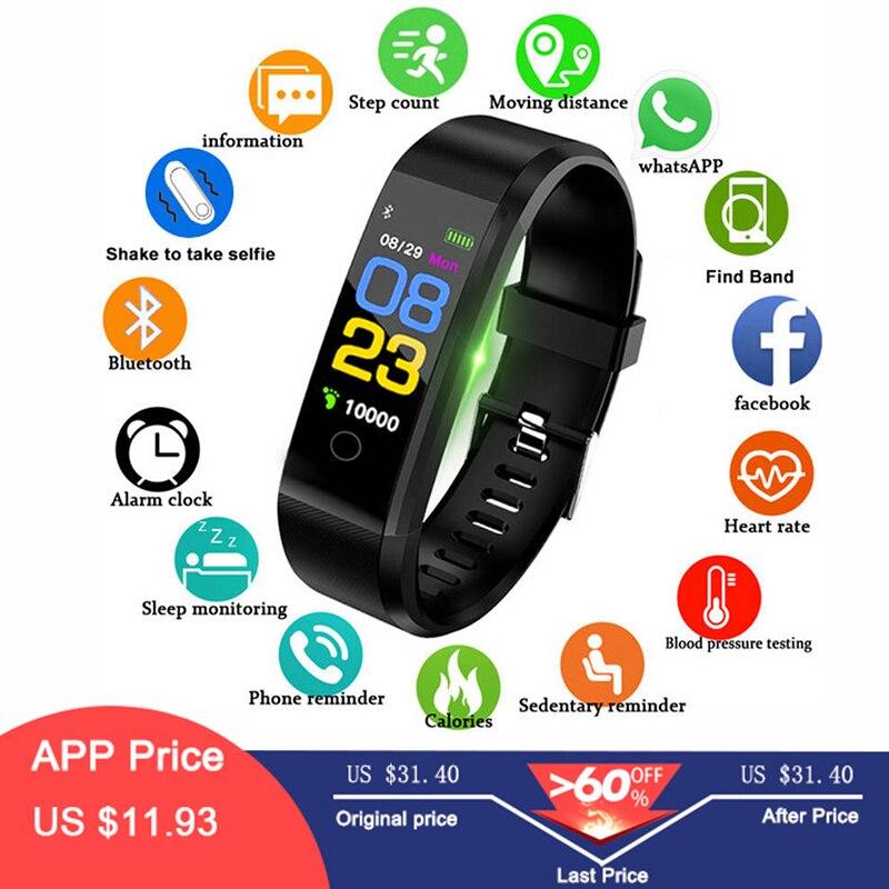 Hembeer Smart Band Männer Frauen Herz Rate & Blutdruck Armband Fitness Armband Sport Uhren für Android pk xioami 3 fitbits