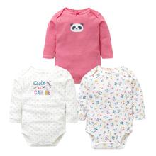 3PCS LOT Baby Body jesień najwyższej jakości Baby Girl Boy Clothes 100 bawełna długi rękaw Bielizna niemowlę kombinezon dla niemowląt 0-24M tanie tanio Dziecko Bodysuits Aktywne Pełne t-21 Unisex Ulubione Times O-Neck Kreskówki Pasuje do mniejszych niż zwykle Sprawdź informacje o rozmiarach tego sklepu