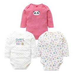 3PCS/LOT Baby Bodysuits Autumn Top Quality Baby Girl Boy Clothes 100% Cotton Long Sleeve Underwear Infant Baby Jumpsuit 0-24M