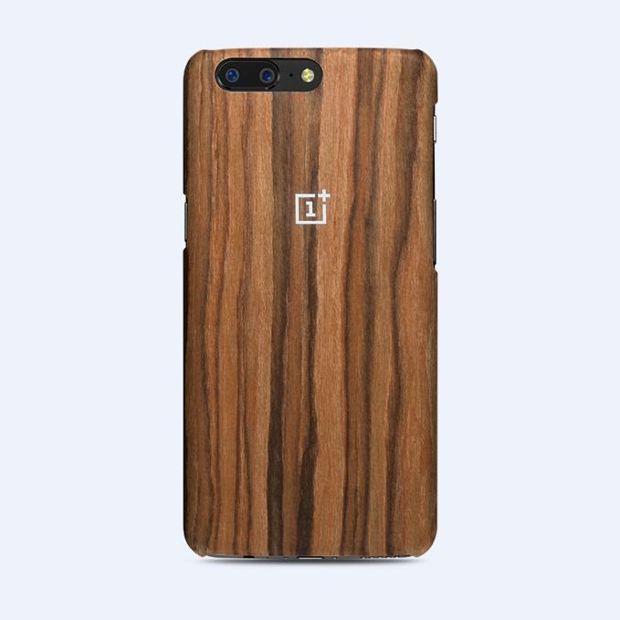 100 Original Oneplus 5 /5T Case Sandstone Black Rosewood Ebony Wood
