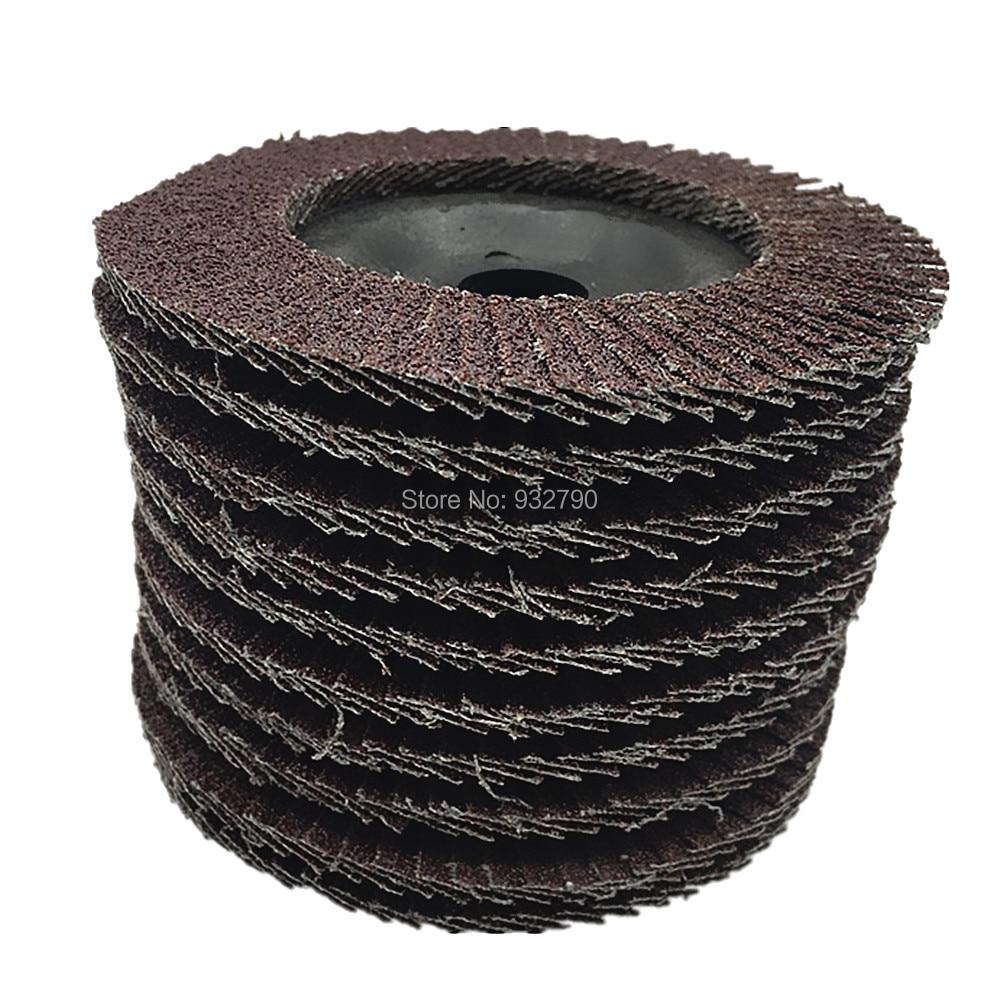 Pier 27 10pcs Polishing Grinding Wheel 100x3x16mm Quick Change Sanding Flap Disc Grinding Wheel For Grit Angle Grinder