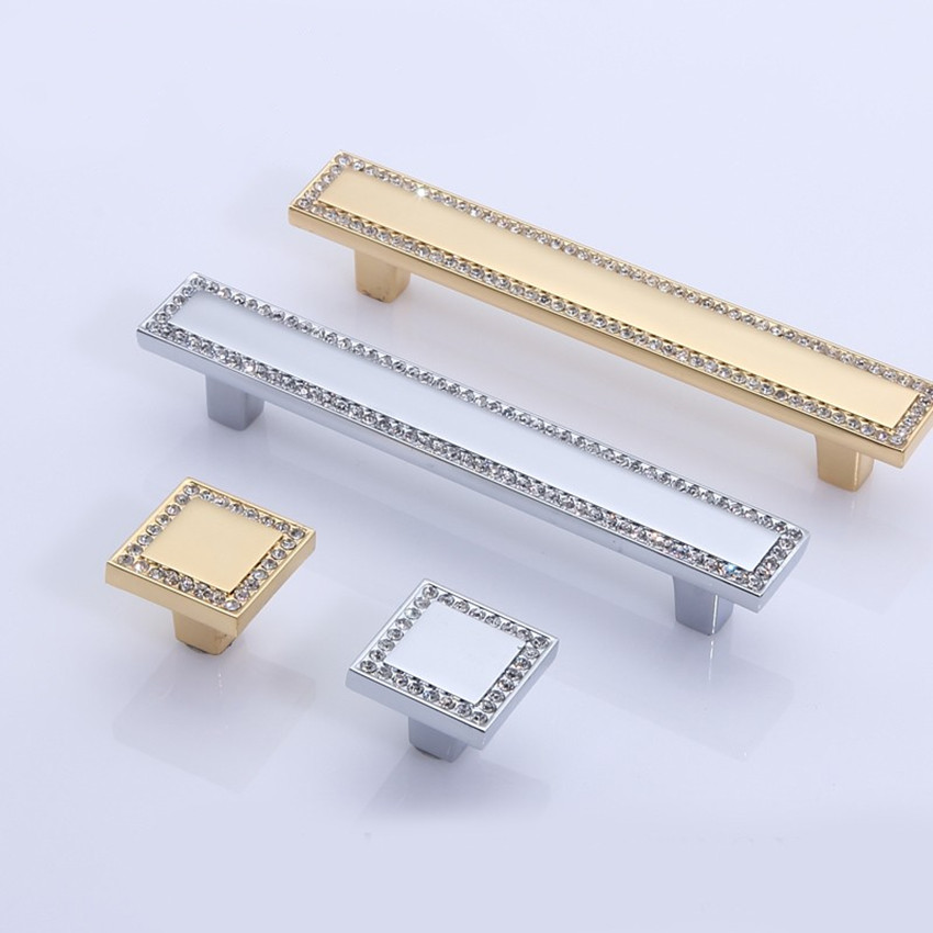 96mm modern fashion crystal square kitchen cabinet cupboard door handles silver golden rhinestone drawer tv cabinet pulls knobs modern simple fashion clear glass crystal drawer tv table knobs pulls rose gold rhinestone kitchen cabinet cupborad door handles