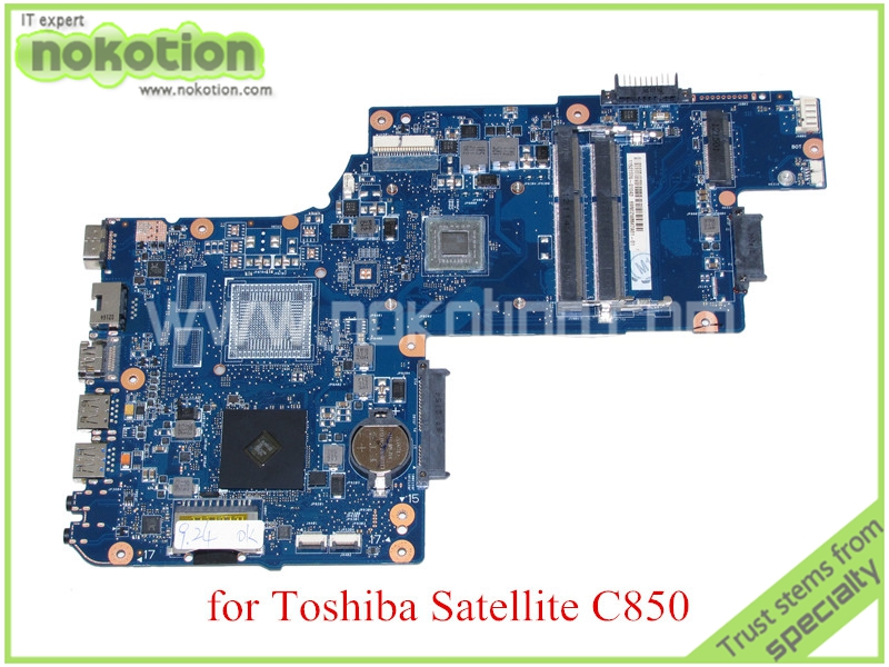 NOKOTION H000042200 For toshiba satellite C850 C850D Laptop motherboard DDR3 EM1800 CPU Onboard nokotion genuine h000064160 main board for toshiba satellite nb15 nb15t laptop motherboard n2810 cpu ddr3