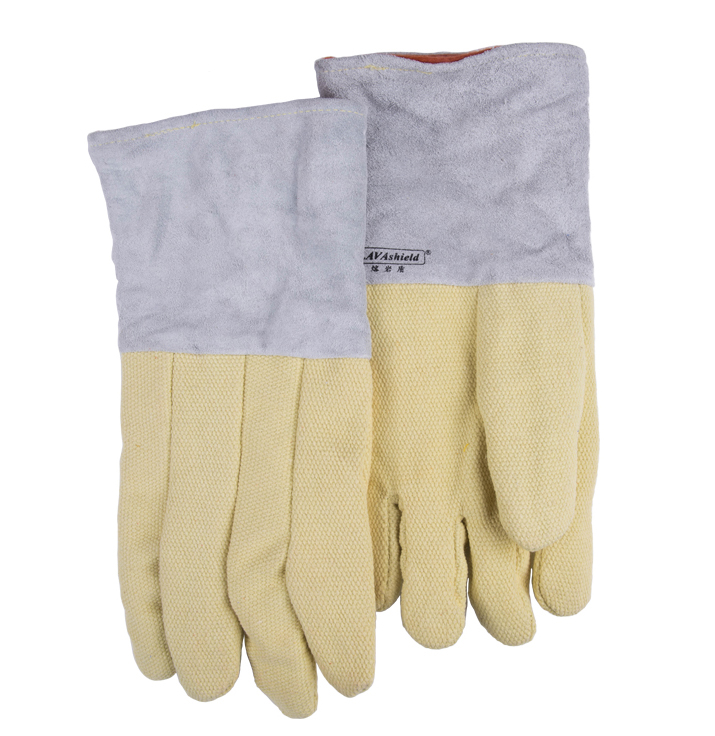 932F Extreme Heat Resistant Oven Gloves Aramid Fiber Leather Firebreak Welding Work Glove 1 pair free shipping aramid fire insulation gloves heat resistant glove 932f bbq glove oven kitchen glove direct supply