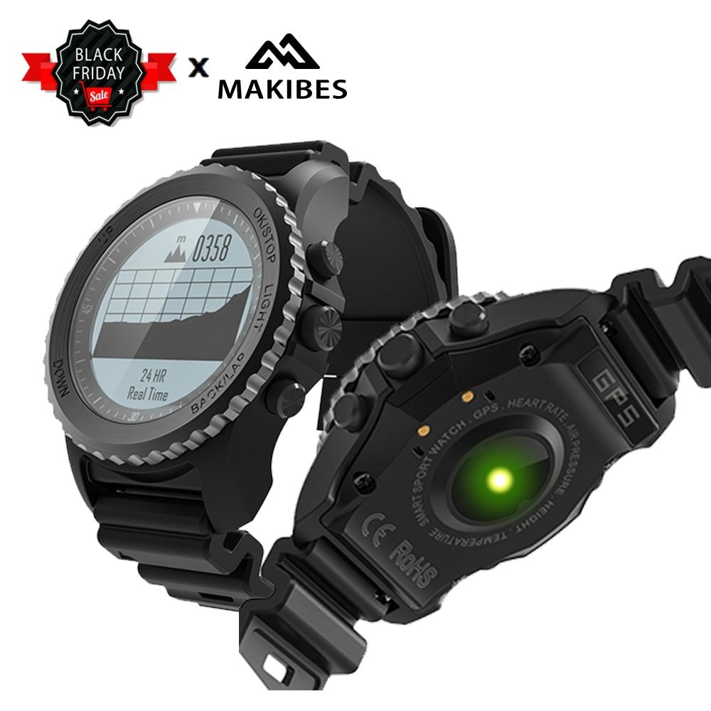 Makibes G07 GPS Bluetooth 4.0 マルチモードスポーツスマート腕時計 IP68 防水ダイナミック心拍数モニター腕時計屋外  グループ上の 家電製品 からの スマートウォッチ の中 1