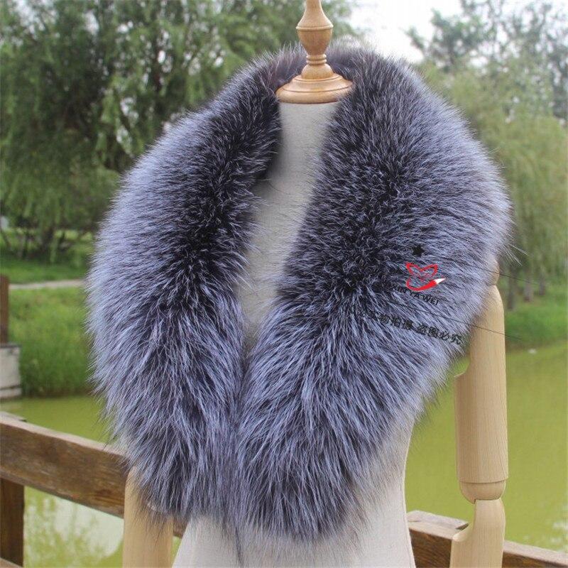Real Fox Fur Collar 80 90 100 110cm Women 100 Natural Fox Fur Scarf Winter Warm