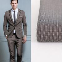 Men S Suit Fabric Chic Custom Make Fabrics Fashion New Button Lapel Handsome Groom Suit Men