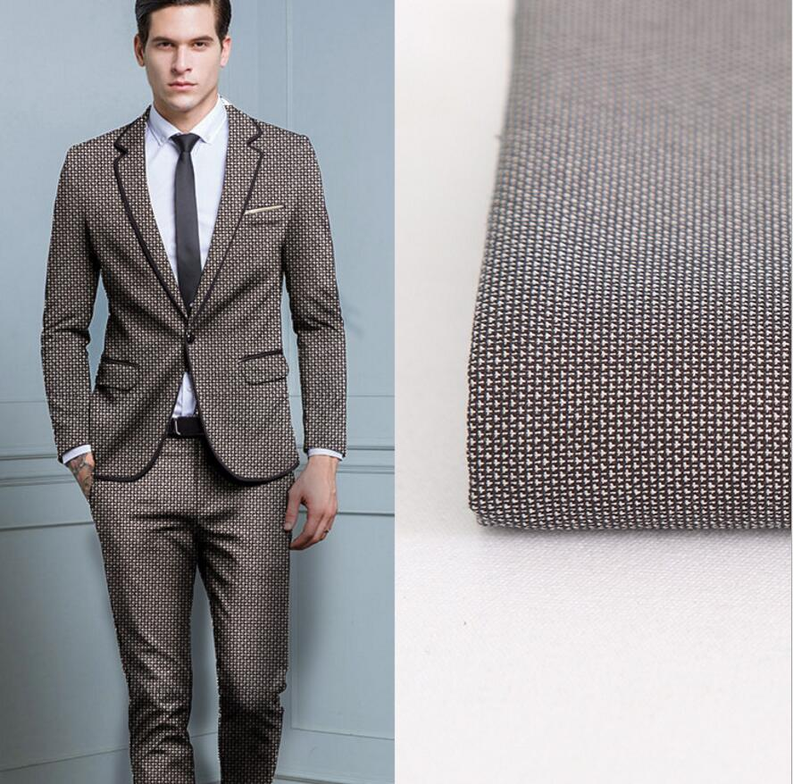 New Men's Suit Fabric Chic Custom-make Fabrics Fashion New Button Lapel Handsome Groom Suit Men's Suits Formal Occasions