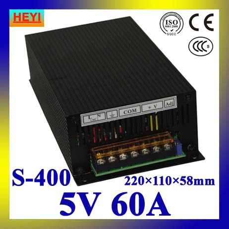 LED power supply  5V 60A 100~120V/200~240V AC input single output switching power supply 400W 5V transformer led power supply 12v 80a 100 120v 200 240v ac input single output switching power supply 1000w 12v transformer