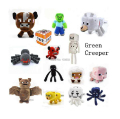 20-42cm My World Minecraft Steve Zombie Pink Pig Short Plush Doll Sketelon Enderman Ocelot Mooshroom Squid Stuffed Animals Toy