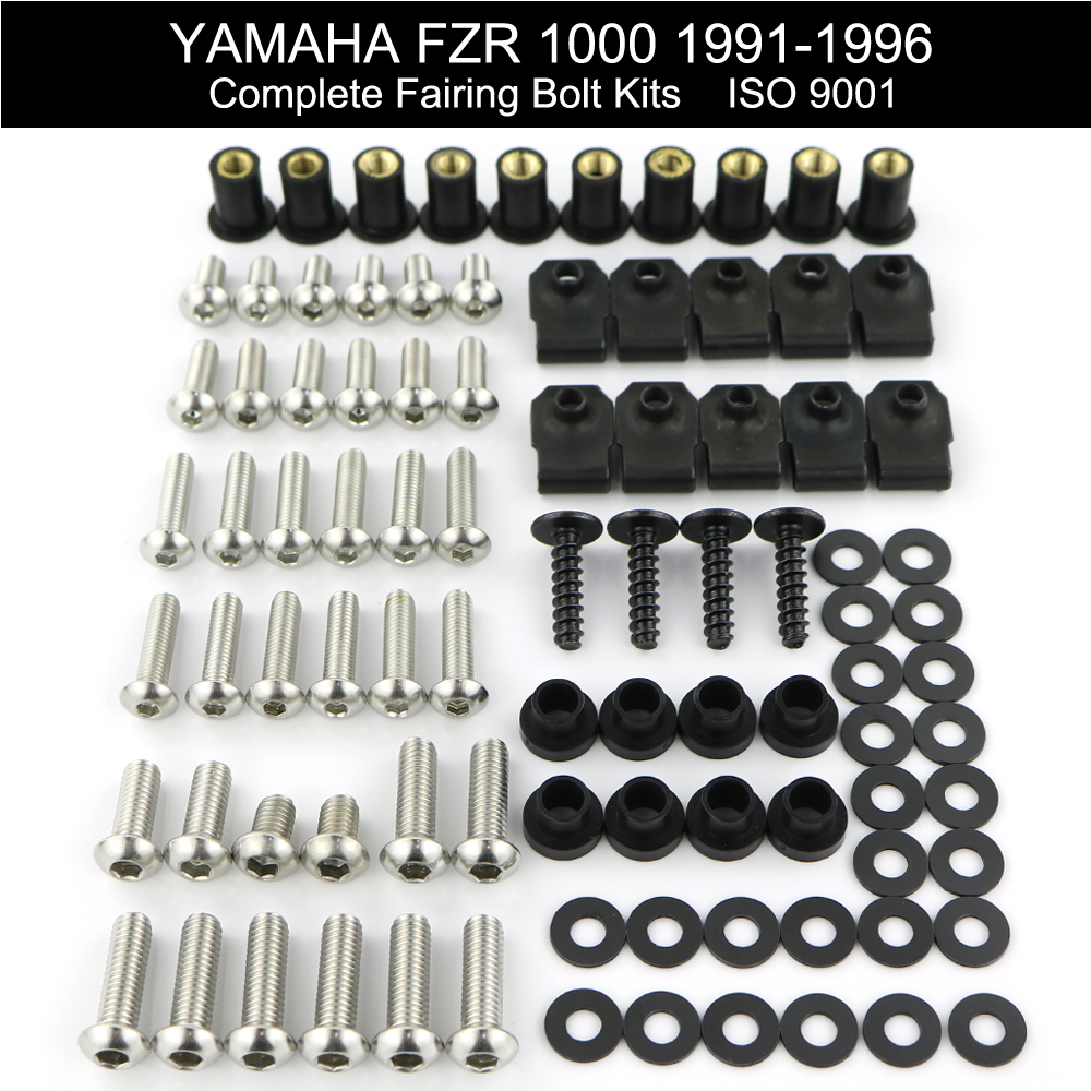 For <font><b>Yamaha</b></font> <font><b>FZR</b></font> <font><b>1000</b></font> 1991-1996 Complete Fairing Bolts kit Stainless Steel Covering Bolt Fairing Clips Nuts image