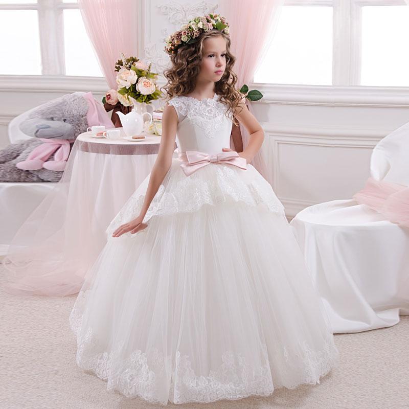 a28f752c100fff1 ₩Кружевные Платья с цветочным узором для девочек без рукавов с ...