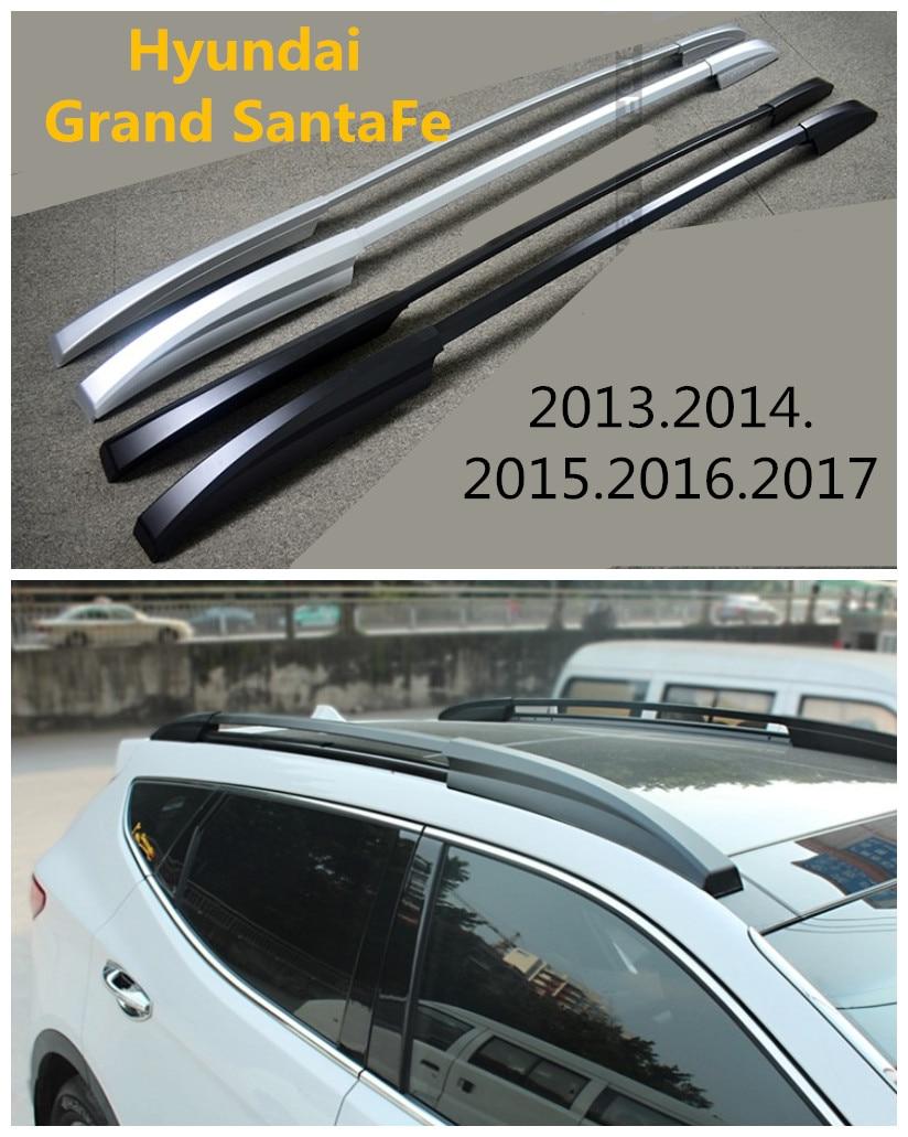 купить Auto Roof Racks Luggage Rack For Hyundai Grand SantaFe 2013.2014.2015.2016.2017 High Quality Aluminium Car Accessories по цене 6541.36 рублей