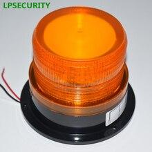 LPSECURITY IP54 12VDC до 60VDC мигающий светильник мигалка стробоскоп для гаражных ворот открывания двери школьный автобус(без звука
