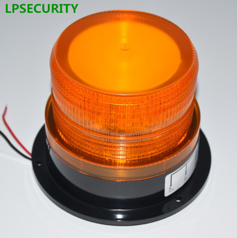 LPSECURITY IP54 12VDC To 60VDC Flashing Lamp Blinker Light Strobe For Garage Shutter Gate Door Opener School Bus(no Sound)