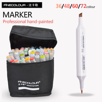 FINECOLOUR Markers Artist Architecture Sketch Marker Set 72 Colors Alcohol Based Manga Art Markers For Design
