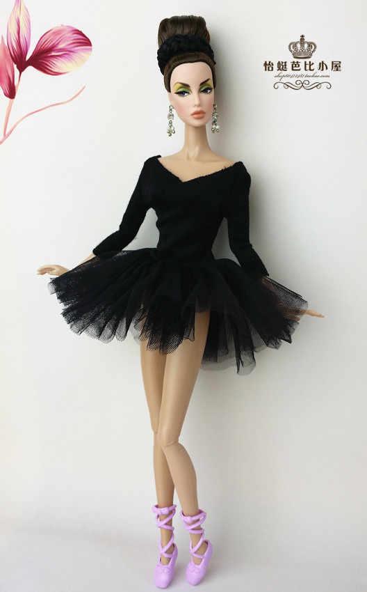 バレエドレスドレスバービー人形 1/6 ウェディングプーリップ人形アクセサリー服プリンセスパーティーセクシーなパフスカート