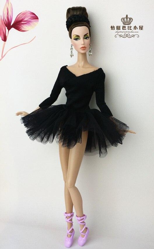 gyermek gyerek Lányok Ajándék csípő Doll Tartozékok ruhák Princess fél ruha sok szexi Puff szoknya esküvő Barbie babák 1/6