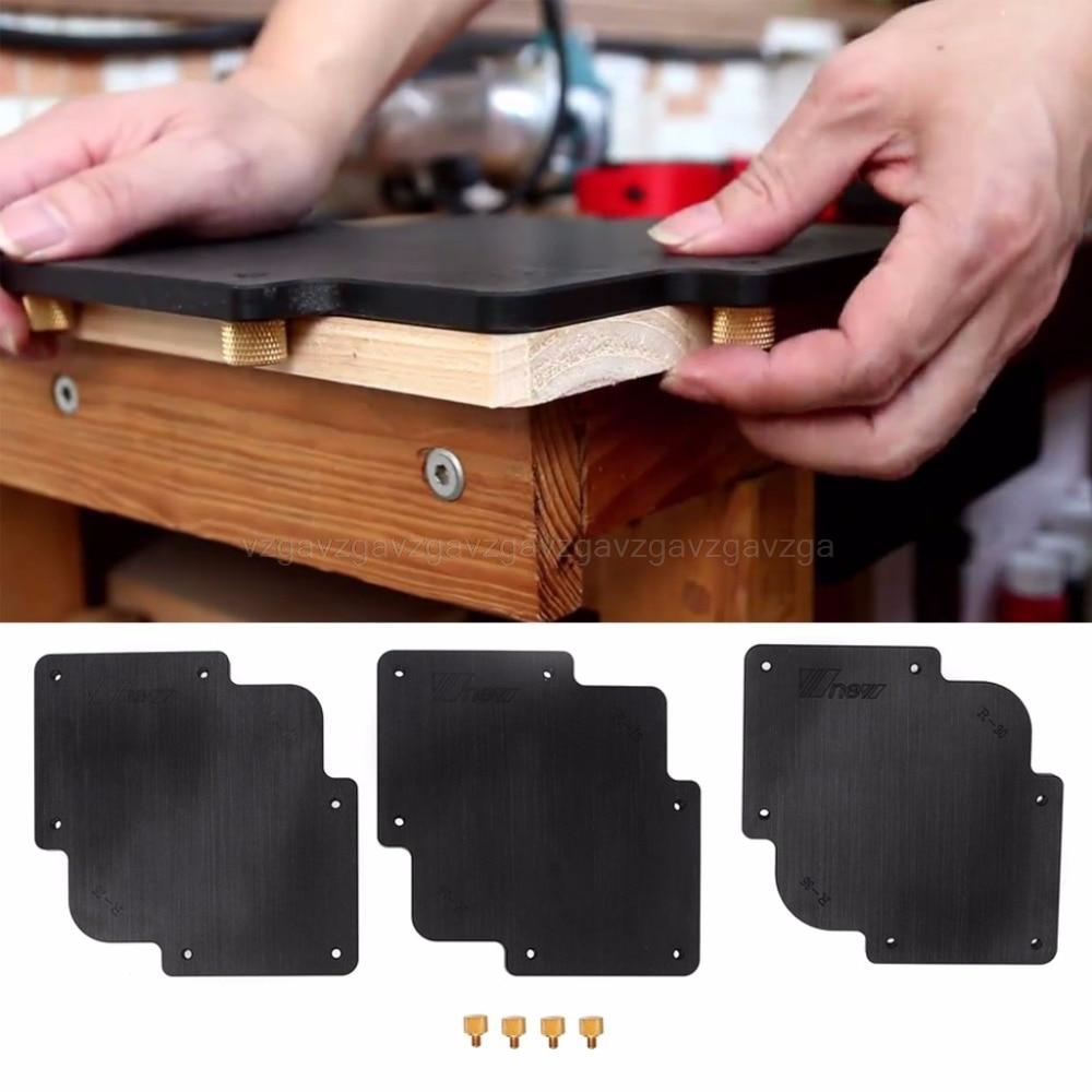 3Pcs R Round Corner Radius Jig Router Templates Bakelite Plate Engraving Machine JUN28 Dropship