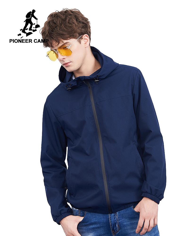 Pioneer camp new hooded jackets men brand clothing casual solid waterproof zipper jacket coat male white striped coats AJK801335-in Jackets from Men's Clothing on AliExpress - 11.11_Double 11_Singles' Day 1
