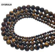 цена Wholesale Faceted Natural Stone Brown Gold Tiger Eye Agates Round Beads For Jewelry Making DIY Bracelet Necklace 4 6 8 10 12 MM онлайн в 2017 году