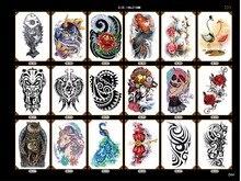 милый унисекс татуировка временный сова единорог мультфильм картина водонепроницаемый рука назад боди-арт макияж татуировка пасты поддельные тату рукава