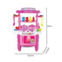 Children's oversized Kitchen Toy Lighting Music Multi function tableware cooker tableware Kitchen set