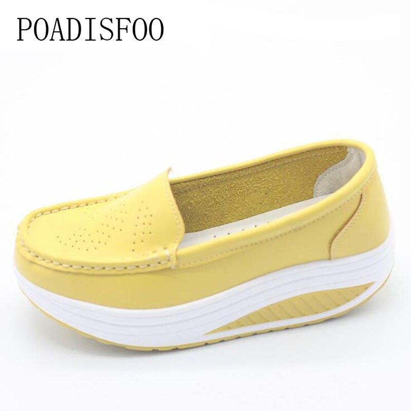 תמונה אמיתית עור אמיתי נעלי טריזי אופנה של נשים הדפסת פרח נשים נעלי פלטפורמת נעליים מזדמנים בתוספת גודל. SPP-8102
