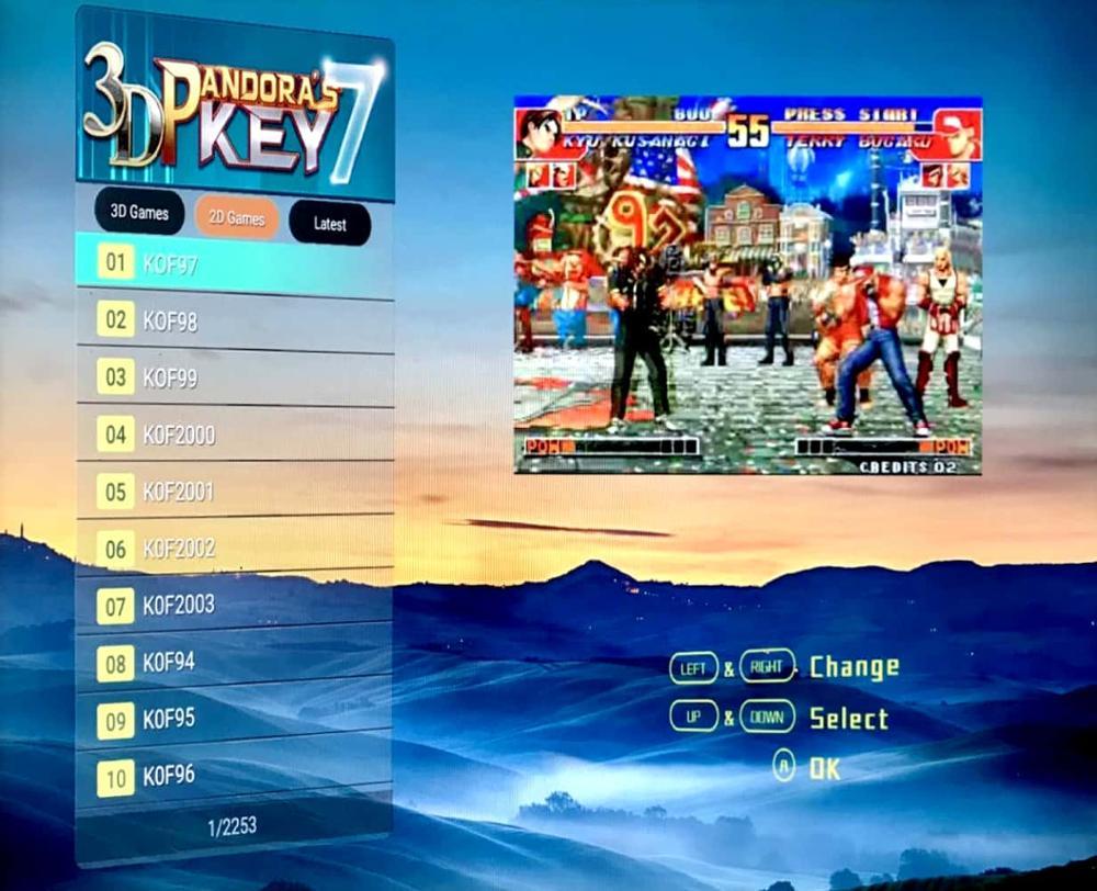 Pandora 10 2363 in 1 Retro Arcade Games PCB Board 110 3D Games 2253 2D Games