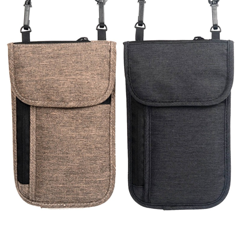 Neck Hanging Travel Passport Cover ID Holder Storage Wallet Clutch Money Bag Travel Multifunction Credit Card Package
