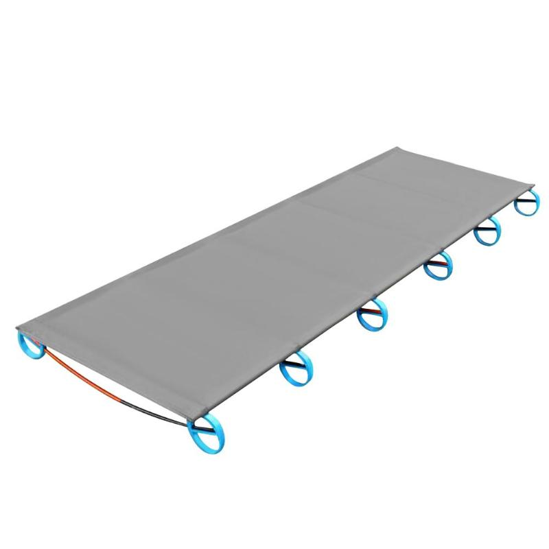 Portable Ultralight Aluminum Alloy Outdoor Camping Mat Travel Hiking Climbing Cot Sturdy Comfortable Folding Sleeping Bed