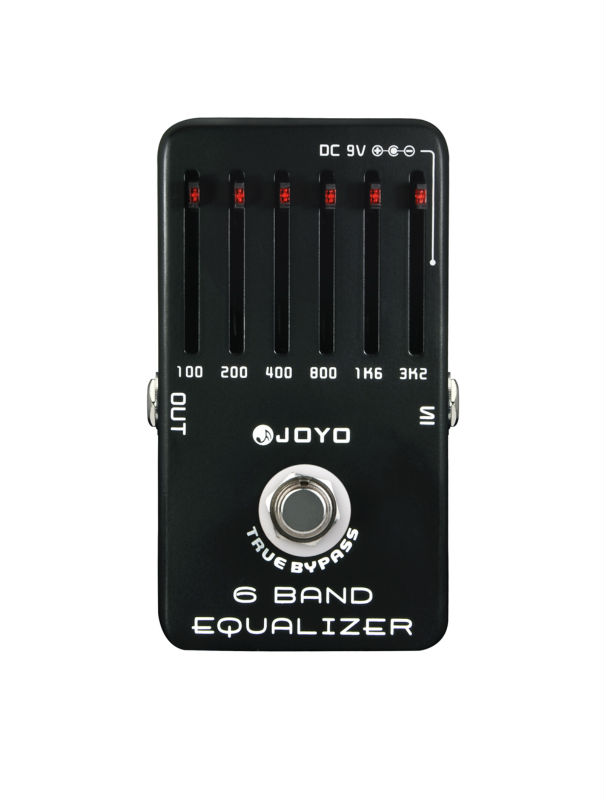 Joyo JF-11 6 Band Equalizer Electric Guitar Effect Pedal True Bypass joyo gloden face amp simulator electric guitar effect pedal true bypass jf 308 with free 3m cable