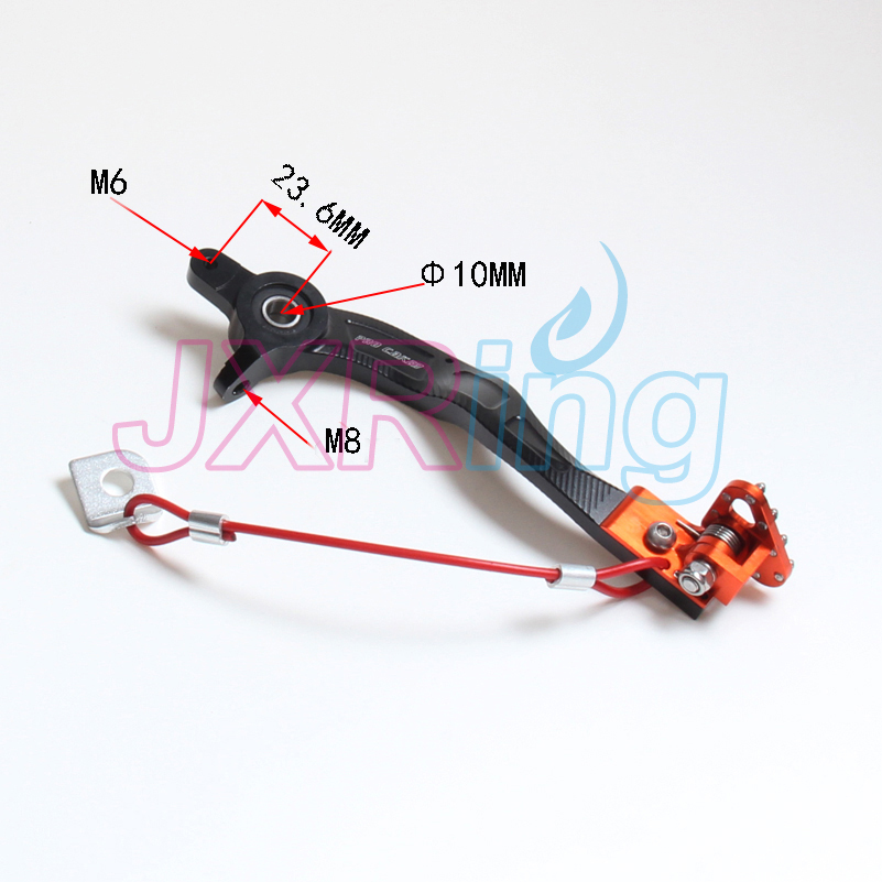 Free shipping Aluminum Orange Flexable MX Rear Brake Pedal For KTM EXC EXCF SX SXF SXS XC XCW XCF 125-525 2008-2015  Motorcycle orange billet rear brake pedal step tip for ktm 125 530 690 950 990 sx exc xcf sxf xc xcw excf excw excf duke adventure