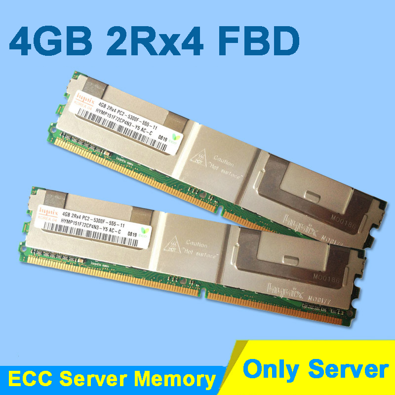 For Hynix DDR2 4GB 2GB 8GB DDR2 667MHz PC2-5300 2Rx4 FBD ECC PC2-5300F FB-DIMM RAM Only For Server Memory RAMs Lifetime Warranty 8 60 90 120 v 2 flutes cnc machine engraving bit two spiral cutter cnc router endmill
