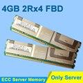 For Hynix DDR2 4GB 2GB 8GB DDR2 667MHz PC2-5300 2Rx4 FBD ECC PC2-5300F FB-DIMM RAM Only For Server Memory RAMs Lifetime Warranty