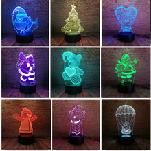 Xmas Series Christmas Decorations Home Party 3D Lamp LED Night Light Luminaria Santa Claus Tree Snowman Christmas&New Year Gifts