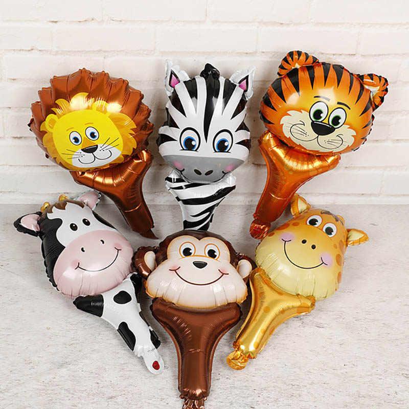 20 pcs Aniversário Balões De Látex Animais Tigre Cão Zebra Safari Partido Decoração Globos do aniversário Dos Miúdos Do Partido balões De Aniversário Do Partido Da Selva