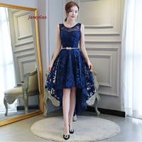 JaneyGao 2019 Short Prom Dresses For Women Elegant Styel Formal Gown Low Hight Dress Front Short Back Long Royal Blue Prom Gown