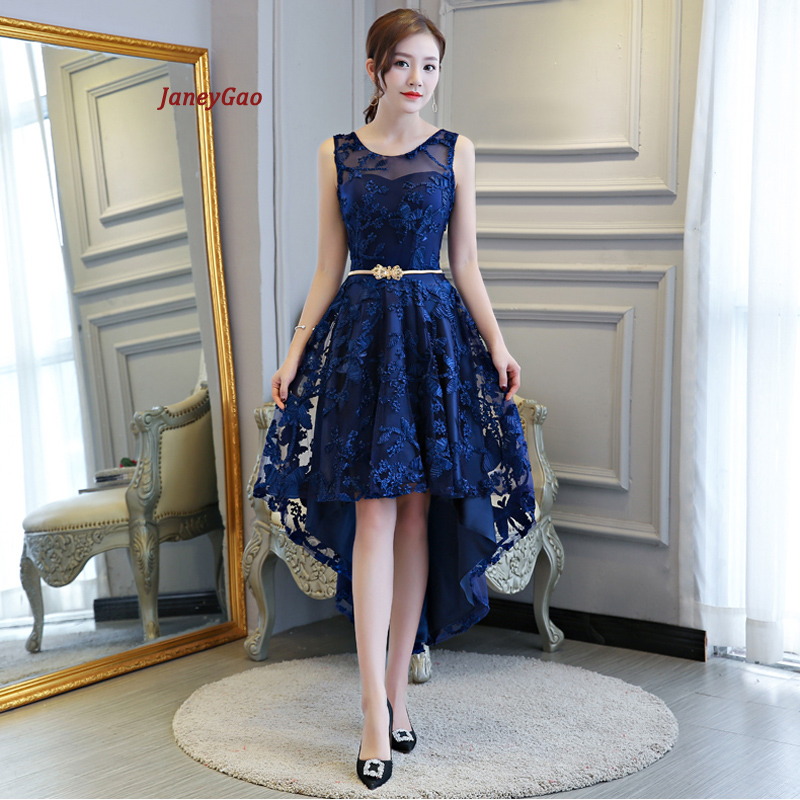 JaneyGao 2019 courtes robes de bal pour les femmes élégant style robe formelle bas haute robe avant courte dos longue bleu Royal robe de bal
