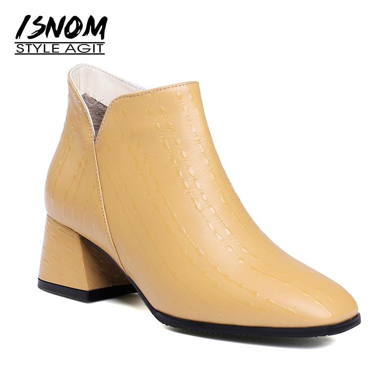 Caviglia Donna Formato Quadrata Scarpe Calzature Da Con black Delle Mucca  colore Zip Tacchi Punta Peluche ... 301bf333c44